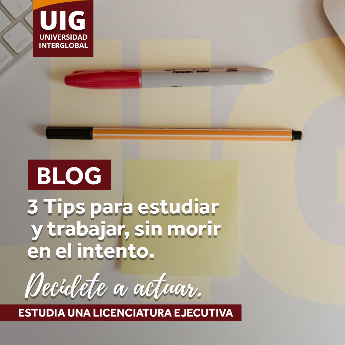 3 Tips para estudiar y trabajar, sin morir en el intento.